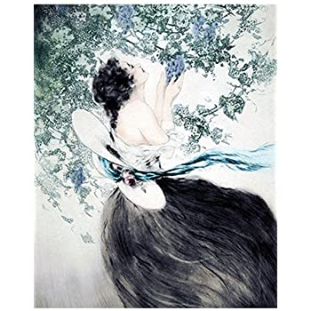 Kathleen by Francois Martin Kavel Art Print of Vintage Art
