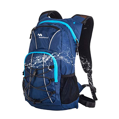 Mobihome Hydration Backpack Sports Daypack -16L, with Multiple Storages Security Features, Prefect Outdoor Gear for Hiking, Running, Cycling, Climbing – Replaceable Water Bladder is Not Included
