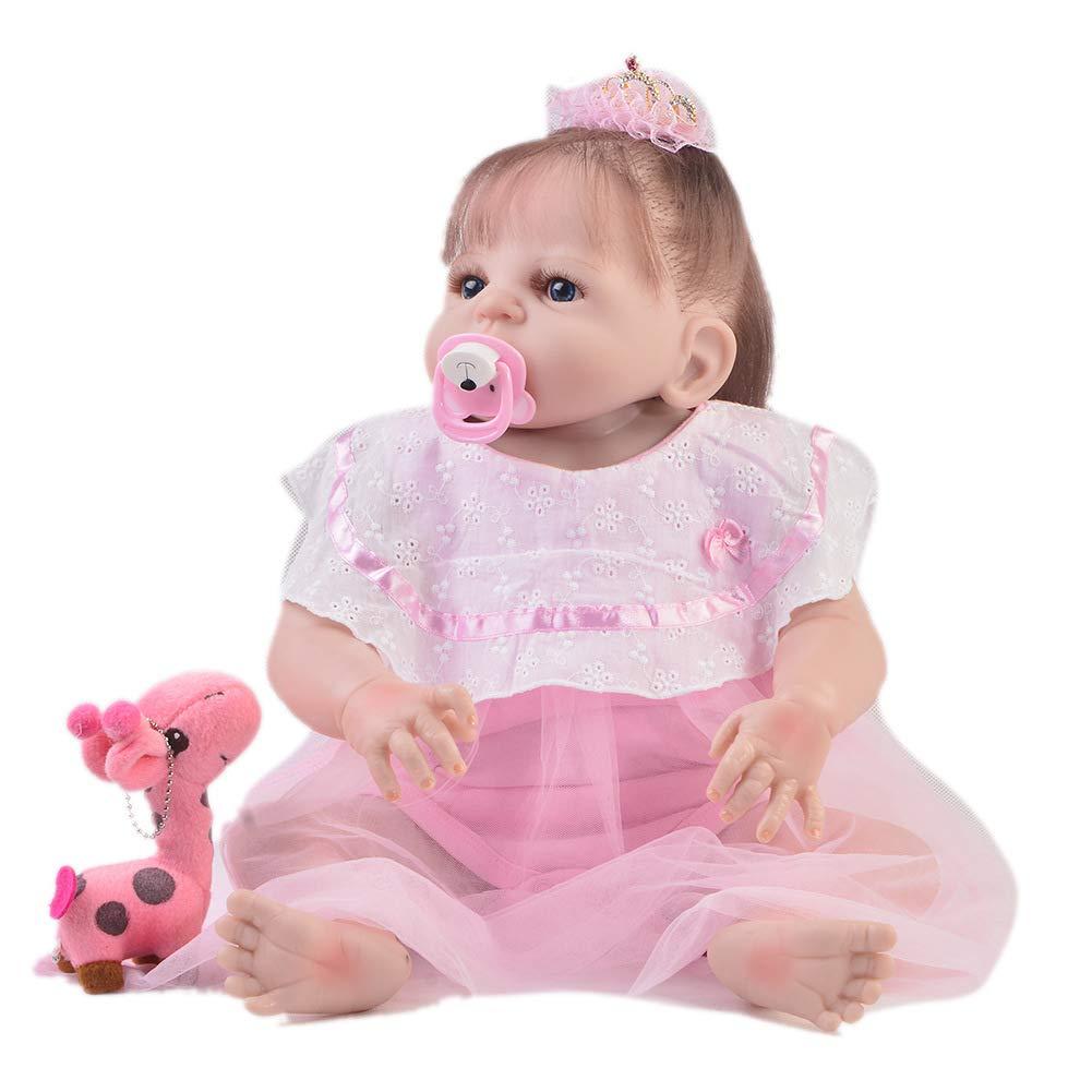"oferta especial QWER 22"" Realista Reborn Baby Dolls Dolls Dolls Look Real Girl Suave Vinilo De Silicona Reborn Toddler Baby Doll Realista Real Look Looking Newborn Dolls Baby Girl Toy  mas barato"