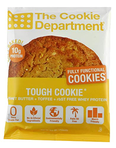 The Cookie Department Tough Cookie – Peanut Butter & Toffee Protein Cookies with 10mg Protein – 3 ounce (Pack of 12) Review