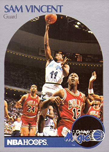 1990-91 NBA Hoops #223 Sam Vincent Basketball Card - Only Michael Jordan Card in a #12 Chicago Bulls Jersey - Michael Jordan Set