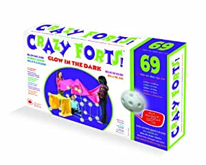 Everest Toys Crazy Forts, Glow in the Dark, 69-Piece