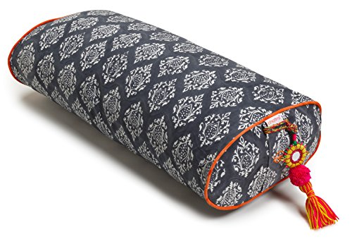 Chattra Charcoal Darpan Oval Yoga Bolster