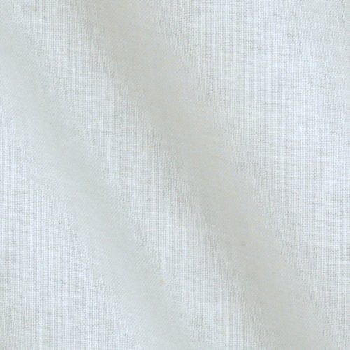 James Thompson & Co., Meadowlark Premium Muslin Bleached Fabric by The Yard, White
