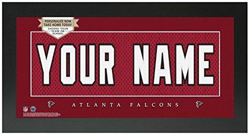 Atlanta Falcons Picture Frame - Atlanta Falcons NFL Custom Jersey Nameplate Framed Sign