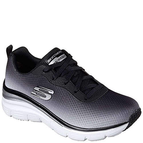 Black Build up Fit White Fashion Womens Skechers Sneakers qEYtFUx