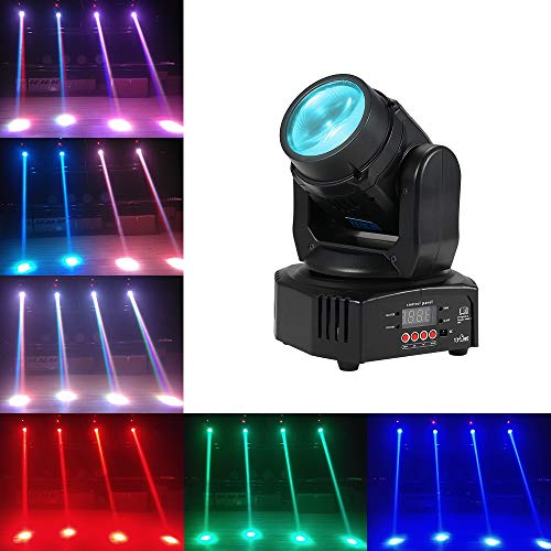 - Tomshine Moving Head Party Lights with DMX512 Spot Mini Stage DJ Lights 25W Lighting Sound Activated Spotlight 7/13 Channel Auto Run Master Slave for Club Bar DJ Show Wedding Ceremony Home Party