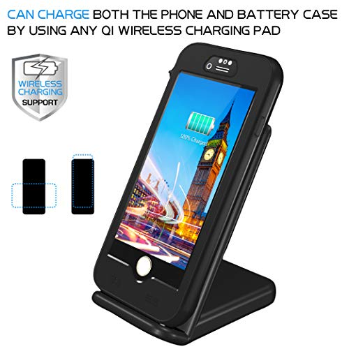 sports shoes 1087c 2fe72 iPhone 8/7 Waterproof Battery Case, QI Wireless Charging Compatible,Temdan  3250mAh Charging Case with Screen Protector Rechargeable Charger Case ...