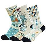 J'colour Boys' Girl's Cute Cartoon Pattern Superlite Casual Socks 1-5 Pairs