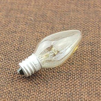 Color : E12 Ampoule /à incandescence Edison 10 PCS E12 E14 10W chaud chambre salon AC 220 V blanc chambre lit cuisine d/écoration maison