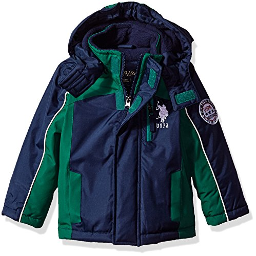 US Polo Association Toddler Boys' Outerwear Jacket (More Styles Available), UB99-Stadium-Classic Navy, 4T