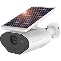 ViewZone Solar Powered Security Camera L4, With 6400Mah Rechargeable Battery Solar WiFi Camera, Waterproof Outdoor…