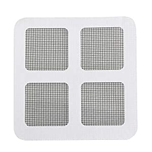 24 Pz/set Anti-Insetto Fly Door Window Anti Zanzariera Rete Mesh Repair Tape Patch Adesivi adesivi per Home Office-Nero e bianco sottile 1 spesavip
