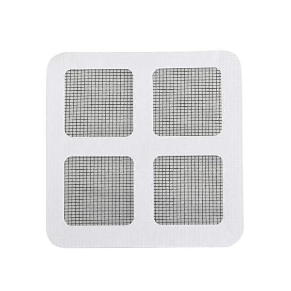 24 Pz/set Anti-Insetto Fly Door Window Anti Zanzariera Rete Mesh Repair Tape Patch Adesivi adesivi per Home Office-Nero… 1 spesavip