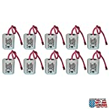 10pc Exell Battery Emergency Lighting Battery Fits and Replaces Interstate ANIC1158, Lithonia ELB2P401N, Powercell PCNA4/5-2-SR-LC FAST USA SHIP