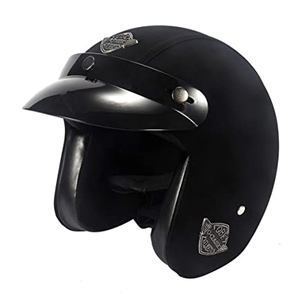 Amazon.es: Casco de Moto Halley Retro Prince 3/4, Casco de Moto de ...