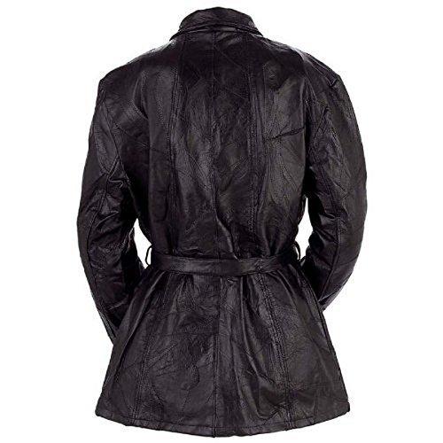 Women's Giovanni Navarre® Mosaic Leather Jacket Black at Amazon ...