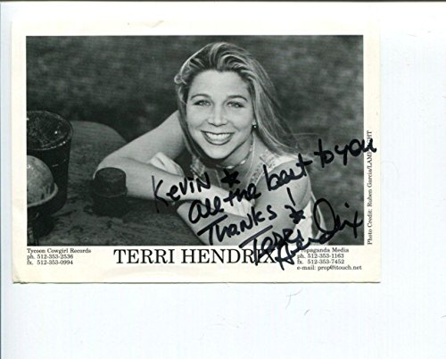 Terri Hendrix Folk Singer Songwriter Lil' Jack Slade Signed Autograph Photo