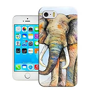 Yishucase-Original Watercolor Elephant art durable top Hard Cover for iPhone 5/5s case