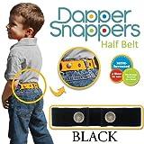 Dapper Snapper Made in USA Original Toddler Adjustable Belt-Black