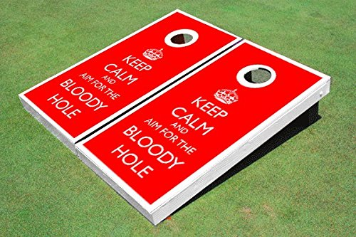 Keep Calm and Aim For The Bloody Hole Cornhole Set, 2x4 (24