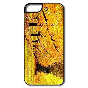 IPhone 5 5S Shell, Golden Orchard White/black Cover For IPhone 5