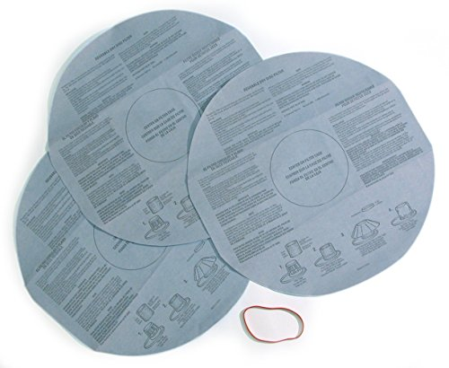 Multi-Fit Wet Dry Vac Filters VF2002 Dry Vacuum Filter (3 Shop Vacuum Cleaner Filters With Retaining Band) Dry Disc Filter For Most Shop-Vac, Vacmaster, Genie Shop Vacuum Cleaners
