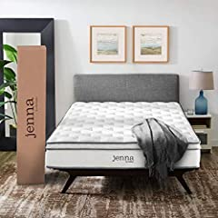 "Enjoy rejuvenated sleep with the Jenna 10"" Innerspring Mattress. Jenna features individually wrapped pocket coils that isolate motion between sleeping partners. Responsive to the needs of side, back, and stomach sleeping styles, Jenna's 8.5"" ..."