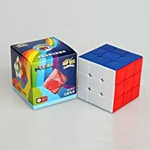 SS-Rainbow new professional 57mm colorful rubik's cube & magic cube 3X3X3,colorful