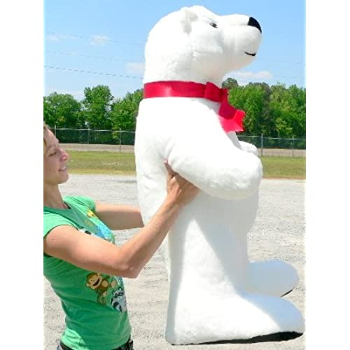 Big Plush Giant Stuffed Polar Bear 42 Inches Made in USA