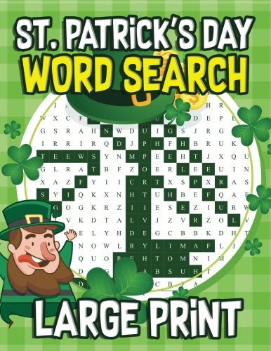 St Patrick S Day Large Print Word Search 30 St Patrick S Day
