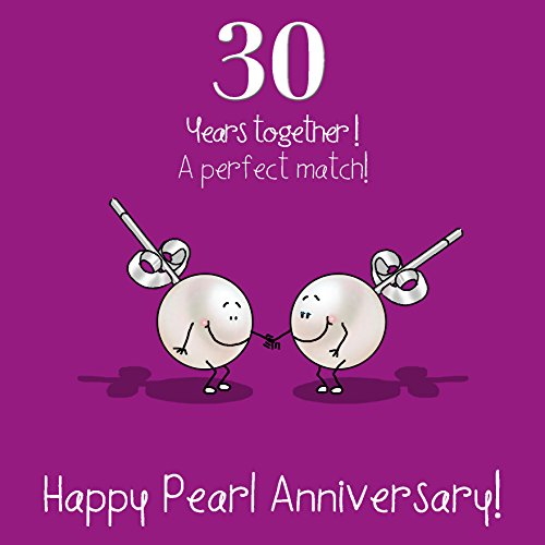 Fax Potato 30th Anniversary Greetings Card - Happy Pearl Anniversary