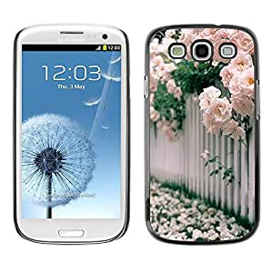 Paccase / SLIM PC / Aliminium Casa Carcasa Funda Case Cover - Roses White Pink Blossoming - Samsung Galaxy S3 I9300