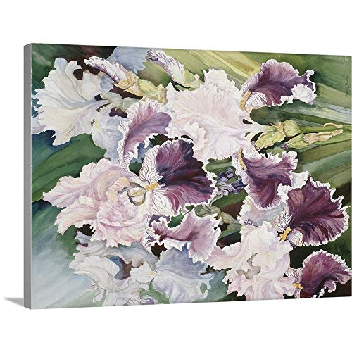 GREATBIGCANVAS Gallery-Wrapped Canvas Entitled Ruffled Burgundy Iris' by Joanne Porter 30