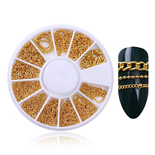 Rivet Nail Studs 3D Nail Art Decoration Gold Circle Star Round Square Mixed Accessories In Wheel For Diy,Pattern 14