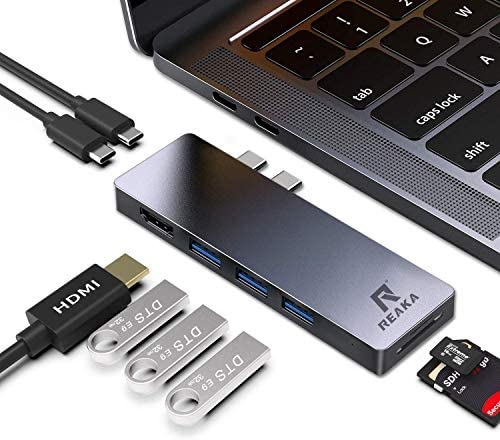 Color : Silver LTOnlineStore 6 in 1 Type C USB 3.0 Hubs Type-C to USB3.0 SD TF Card PD Charging Converter for Laptop