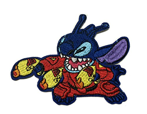 Stitch Disney Character - LILO & STITCH Patch Disney TV Superhero Comics Logo Character Theme Series New 2018 Marvel Movies Embroidered Sew/Iron on Badge DIY Appliques