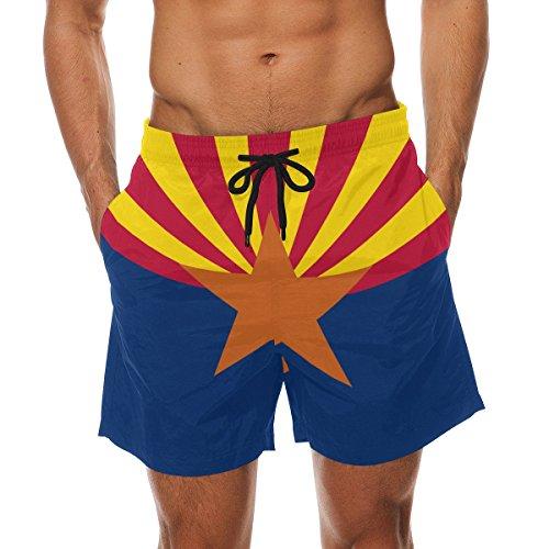 - CoolPrintAll Arizona State Flag Men's Swim Trunks Beach Shorts with Pockets