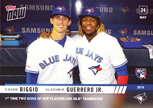 - 2019 Topps Now Baseball #275 Cavan Biggio and Vladimir Guerrero Jr. Dual Rookie Card Toronto Blue Jays - Only 2,007 made!