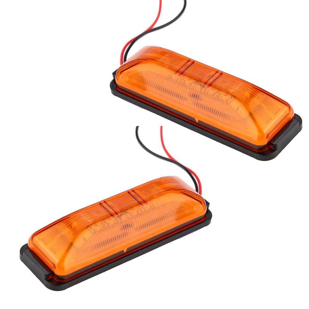EBTOOLS Clignotant lat/éral /à LED voyant de feu de signalisation lat/érale pour marqueur de feu lat/éral de paire de mini r/éfl/échissants 12V orange