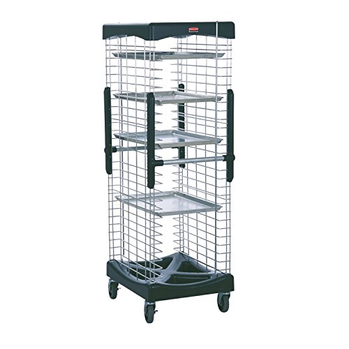 Rubbermaid Commercial FG9F9700BLA ProServe Enclosed Pan Racks, 300-Pound Load Capacity, Black