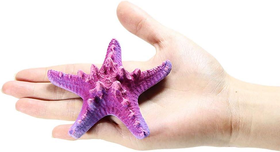 Danmu 1Pc of Polyresin Coral Ornaments, Aquarium Coral Decor, Starfish Decor for Fish Tank Aquarium Decoration Color Purple