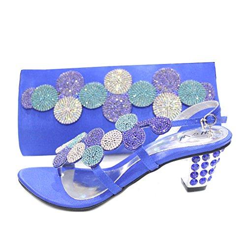 nbsp;w Femme Cristal Sac Mariage Pour nbsp; Bleu amp; mizra Marine amp; nbsp;paras W Strass Chaussures Assorti De Et nbsp; Taille PAEvvw