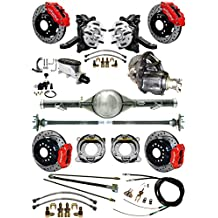 """NEW SUSPENSION & BRAKE SET WITH CURRIE REAR END & AXLES, 2 1/2"""" DROP SPINDLES, POSI GEAR, RED WILWOOD CALIPERS, DRILLED DISCS, LINES, 1963-1970 CHEVY C10 GMC C15 2WD TRUCKS 1965 1966 1967 1968 1969"""