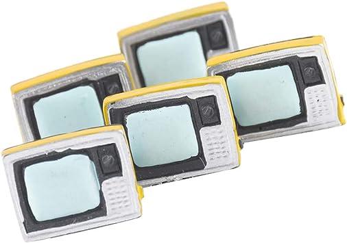 non-brand 5pcs Miniatura Electrodomésticos Muebles de Casa de Muñecas de Accesorio Adorno - TV Juguete Televisor: Juguetes y juegos - Amazon.es