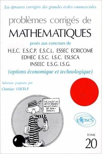 Livre gratuits Mathématiques HEC 1997, tome 20 : Option économique et technologique pdf epub