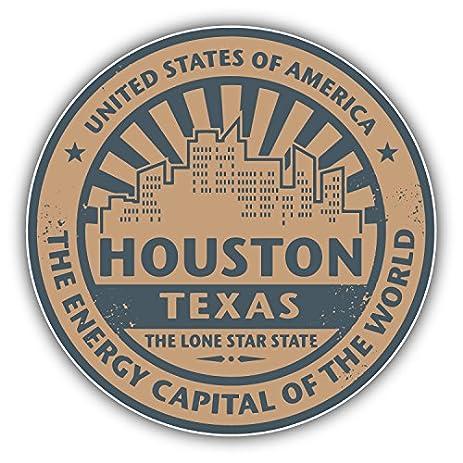 Amazon.com: Houston Texas Grunge Vintage Travel Stamp Art Decor ...