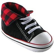 Luvable Friends Fold-Down Hi-Top Sneakers (Infant)