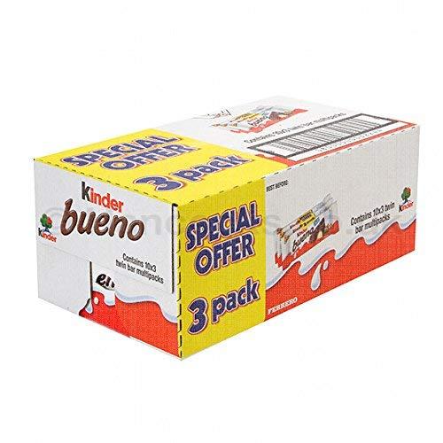 Kinder Bueno Chocolate Bars 43g x 30 - Case of 30 (43g x 3 x 10)