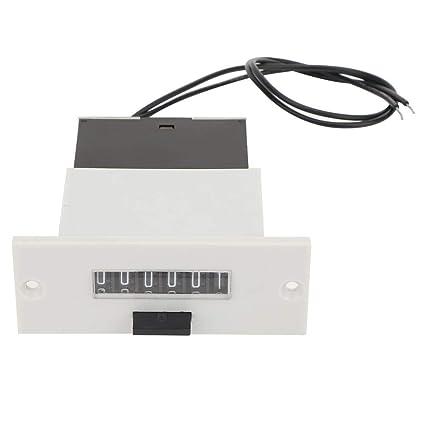 LFC-6 6 chiffres 0-999999 Compteur m/écanique de totalisateur industriel 220V Compteur dimpulsions /électromagn/étiques Compteur dimpulsions num/érique m/écanique